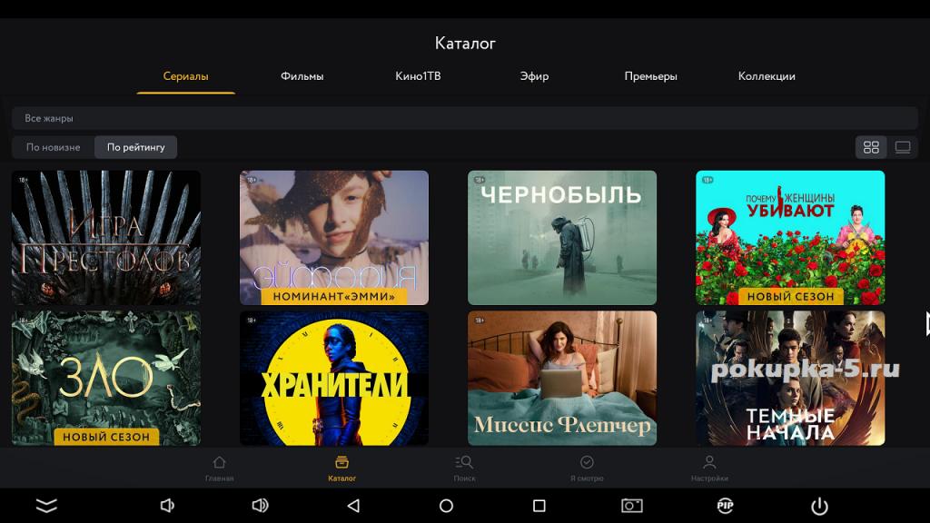 Топ-10 онлайн кинотеатров с платными фильмами и сериалами для Андроид